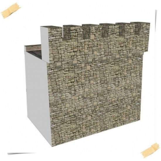 CASTLE 000 - Mur obronny H0