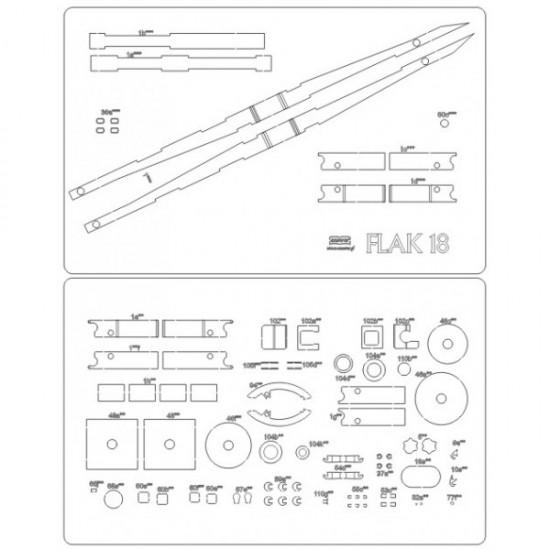 Wręgi wycinane laserowo - Flak 18