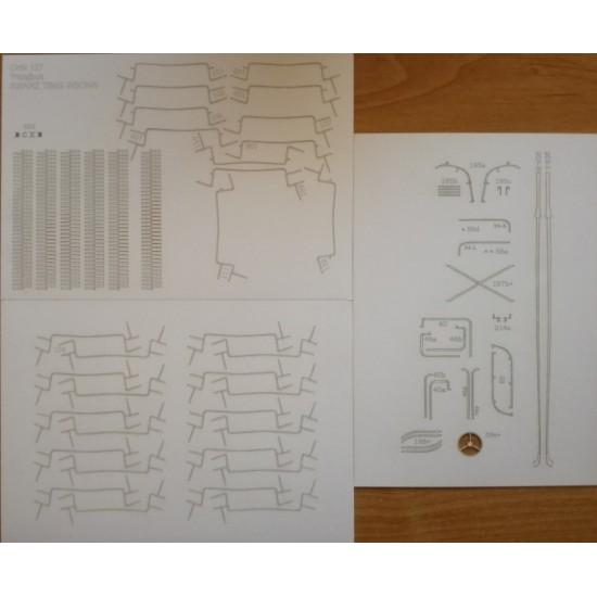W127. Detale i bieżniki  wycinane laserowo do modelu SVARZ TBES-VSKhV