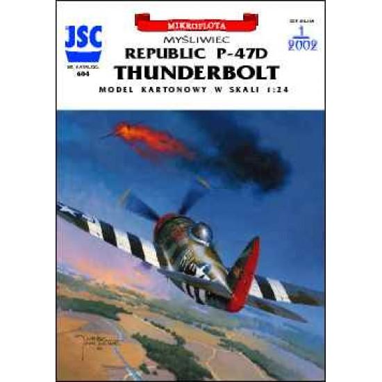 Amerykański myśliwiec P-47D THUNDERBOLT (pilot Francis Gabreski)