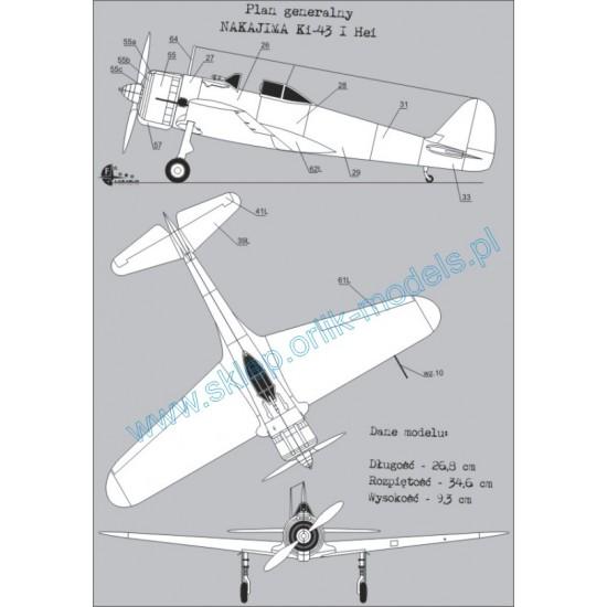 Nakajima KI 43 I Hei + wręgi wycinane laserowo
