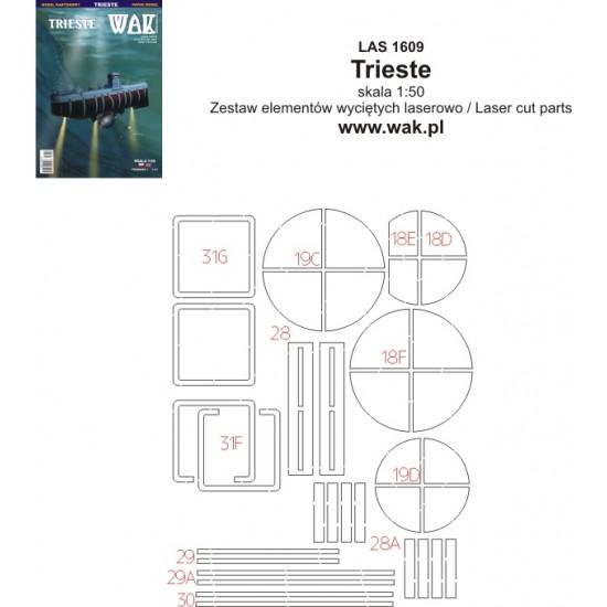 Trieste - laserowo wycięte części