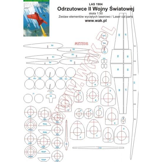 Mikrolotnictwo - 08 - Odrzutowce II Wojny Światowej - laserowo wycięte części
