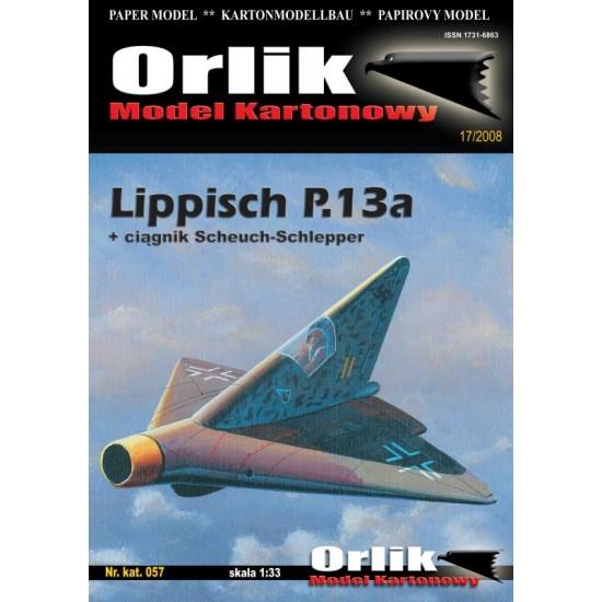 057. Lippisch P.13a + ciągnik lotniskowy