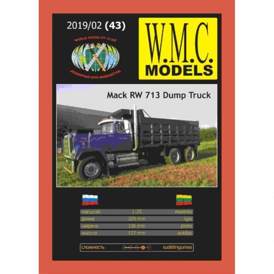 Samochód ciężarowy Mack RW 713 Dump Truck