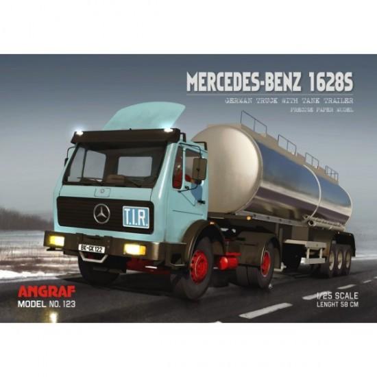 Mercedes 1628S z naczepą cysterna