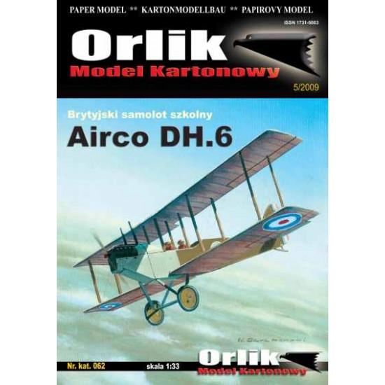 Airco DH.6 + wręgi wycinane laserowo