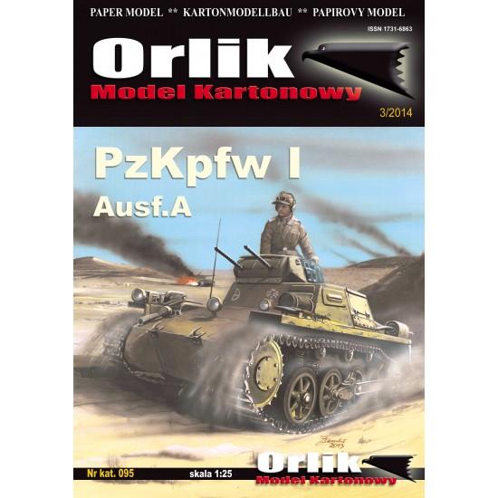 095. PzKPFW. I Ausf. A + szkielet wycinany laserowo