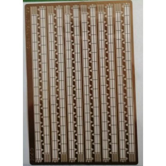 Fototrawione  relingi 3 rzędowe  1/300 - 96 cm