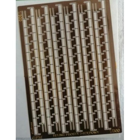 Fototrawione  relingi 2 rzędowe  1/300 - 96 cm