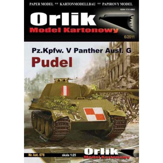 Pz.Kpfw. V Panther ausf.G PUDEL + wręgi wycinane laserowo