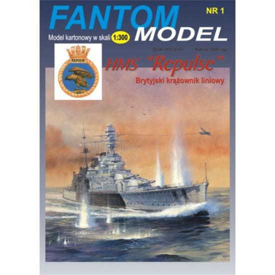 Brytyjski krążownik liniowy HMS Repulse 1:300