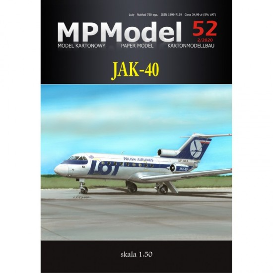 Samolot pasażerski JAK-40 PLL LOT