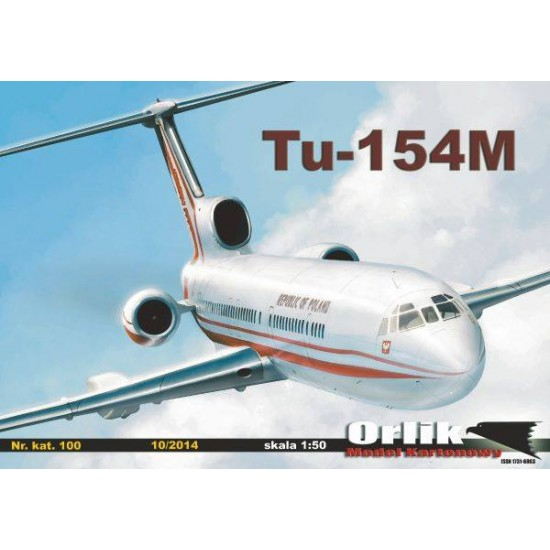 100. Tupolew Tu-154M + laserowo wycinany szkielet