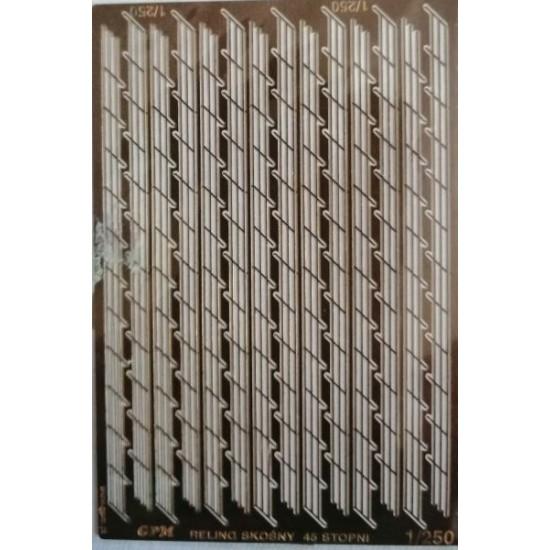 Fototrawione  relingi 3 rzędowe skośne 45%   1/250 - 96 cm