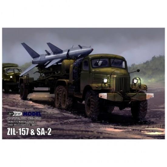 Radziecka cieżarówka Ził-157 & SA-2